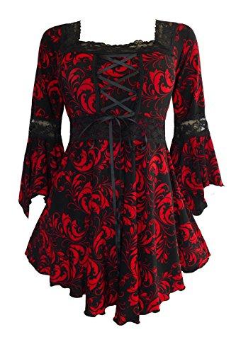 Dare To Wear Victorian Gothic Boho Plus Size Renaissance Corset Top Moulin Rouge 2x (Renaissance Wench)