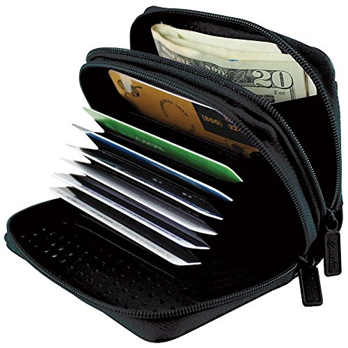 Buxton RFID Identity Safe Wallet – Prevent Electronic Credit Card Scan Theft, One Size,Black