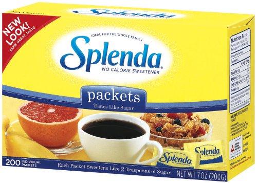 Splenda No Calorie Sweetener Granular, Individual Packets, 200 Count Package (Pack of 3)