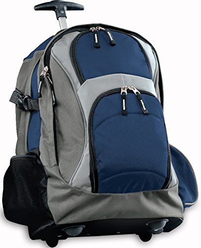 Broad Bay Rolling Backpack Deluxe Navy Best Quality Backpacks Bags With Wheels