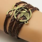 FLORAY Men or Women's Brown Bracelets, Eagle, Beautiful and Special Present. Chain Length: 18+4.5 cm
