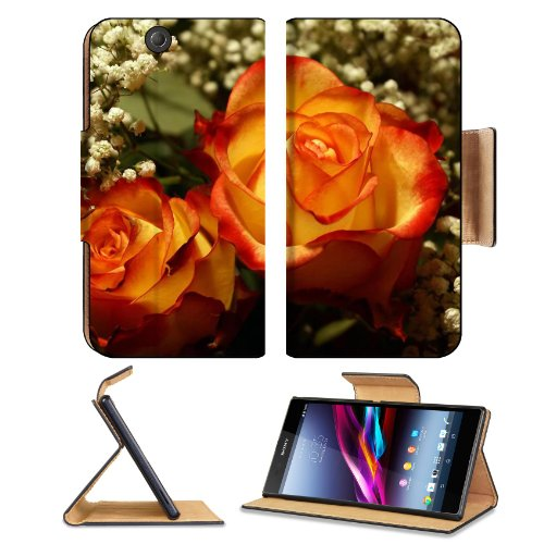 Perfectly Roses Wedding Bouquet Sony Xperia Z Ultra Flip Case Stand Magnetic Cover Open Ports Customized Made To Order Support Ready Premium Deluxe Pu Leather 7 1/4 Inch (185Mm) X 3 15/16 Inch (100Mm) X 9/16 Inch (14Mm) Liil Sony Xperia Z Ultra Cover Prof front-925626