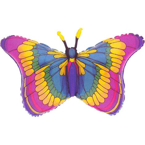 Anagram International M6590101 Flutters Butterfly Shape Balloon Pack, 32""