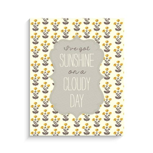 "Lucy Darling Sunshine Print Wall Decor, 8"" x 10"" - 1"