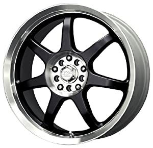 "MB Wheels Seven X Gloss Black Machined Wheel (16x7""/5x100mm)"