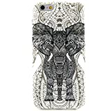 iPhone 6 Case, JCmax Cute Fashion Slim Thin Protective Glossy Silicone TPU Gel Skin Back Shell Case Cover for Apple iPhone 6 4.7 2014 + Screen Protector and Stylus Pen - [Elephant Pattern]