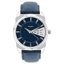 Espoir Analog Blue Dial Day Date Mens Watch -BDD507