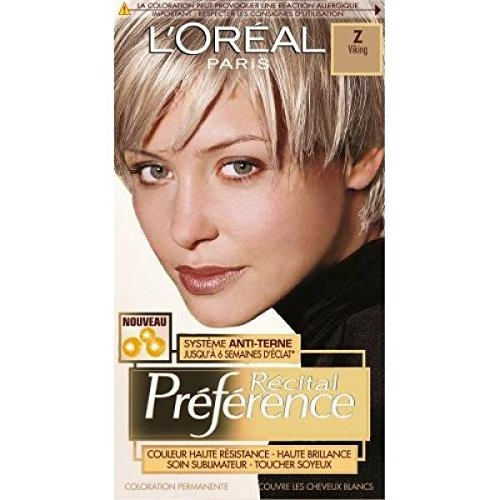 loreal recital preference coloration z viking blond trs clair cendr - Coloration Cendr