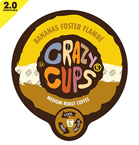 Crazy Cups Banana Foster Flambe Flavored Coffee Single Serve Cups (44 Count)