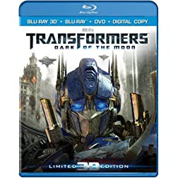 Transformers: Dark of the Moon (Three-Disc Combo: Blu-ray 3D/Blu-ray/DVD/Digital Copy)