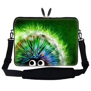 Meffort Inc 17 17.3 inch Laptop Sleeve Bag Carrying Case with Hidden Handle and Adjustable Shoulder Strap - Cute Porcupine Design