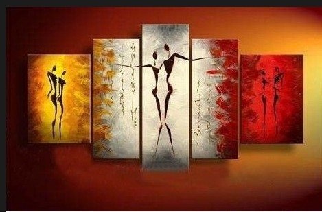 Santin Art-Dance With Me -Modern Canvas Art Wall Decor-Abstract Oil Painting Wall Art