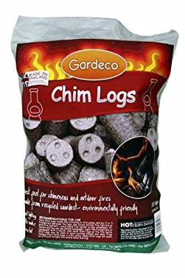 Chim Logs fuel for Chimeneas and outdoor fires 10Kg