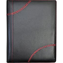 Rawlings Baseball Stitch Padfolio and Tablet Case (Black)
