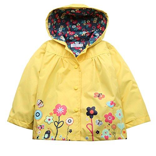 CRAVOG bambini giacca impermeabile con cappuccio cappotto outwear