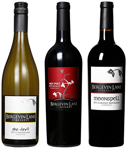 """Bergevin Lane Vineyards """"Everyday Essentials"""" Walla Walla Reds And A White Mixed Pack, 3 X 750 Ml"""