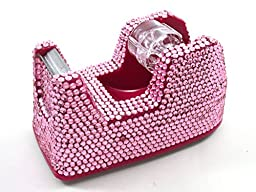 Pink Crystal Rhinestone Tape Dispenser