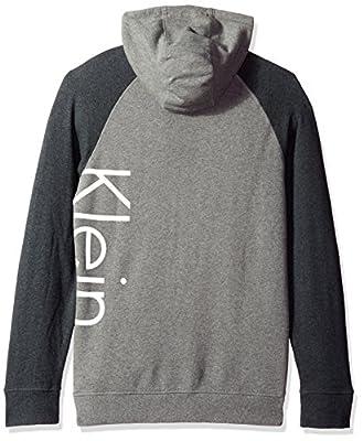 Calvin Klein Jeans Men's Full Zip Color Block Logo Hoodie