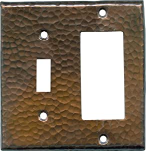 HAMMERED Antique Copper Switchplates Outlet Covers, Rocker, GFCI 1 Toggle/Decora $14.50