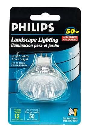 Philips 156794 Landscape Lighting 50-Watt 12-Volt MR16 - Halogen Bulbs - Amazon.com