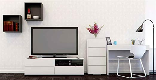 TV Stand with Filing Cabinet