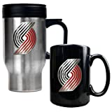 Portland Trail Blazers Coffee Cup & Travel Mug Gift Set at Amazon.com