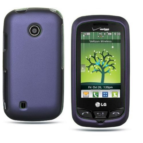 LG Cosmos Touch VN270 Purple Harbor Blue Premium Design Phone Protector Hard Cover Case + Bonus 5.5