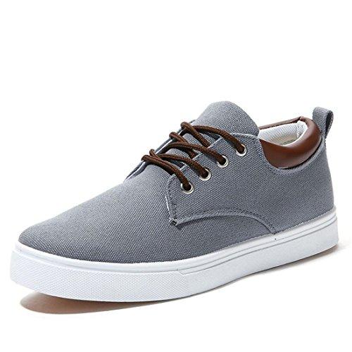 jeansian Moda Casuale Sneaker Scarpe Calzature Sportive Scarpe da Uomo Gray 8.5 US SHB004