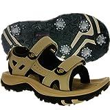 Orlimar Athena Women's Action Leather Golf Sandal ST1606 - BEIGE SIZE 8