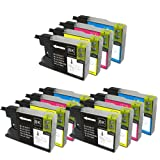12 ColourDirect Ink Cartridges for Brother LC1280 Brother MFC-J5910DW, MFC-J6510DW, MFC-J6710DW, MFC-J6910DW Printer
