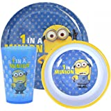 Despicable Me Minions '1 In A Minion' 3-Piece Dinner Set   Mealtime   Dinnerware