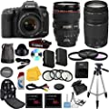 Canon EOS 7D Mark II Digital SLR Camera with EF 24-105mm f/4 L IS USM Lens Celltime Exclusive Bundle with EF 75-300mm f/4-5.6 III Telephoto Zoom Lens + High-Capacity Battery + 3pc Filter Glass Kit + 4pc Macro Lens Kit + 2pcs 32GB Memory Cards + 16pc Acces
