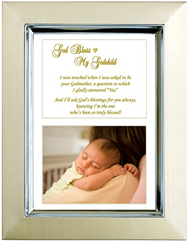 Godson or Goddaughter Gift From Godmother - Baptism or Christening - Add Photo
