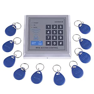 RFID Proximity Door Entry Access Control System + 10 Key Fobs (Style 1)