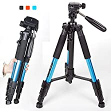 buy Zomei Portable 55-Inch Aluminium Tripod Compact Lightweight Camera Stand With Quick Release Pan Head Plate For Digital Slr Canon Eos Nikon Sony Panasonic Samsung