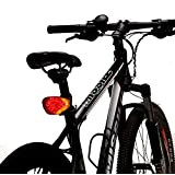 7dayshop Waterproof Rechargeable Intelligent Rear Indicator Bike Light / Warning Horn