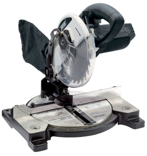Draper 52926 210 mm 230-Volt 1,200-Watt Compound Mitre Saw