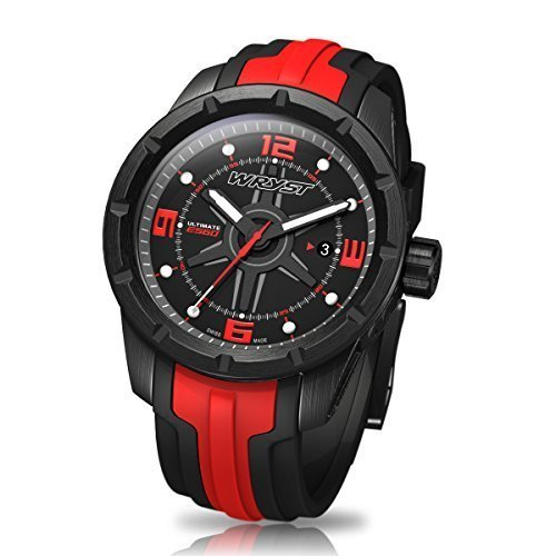 Black and Red Swiss Sport Watch Wryst Ultimate ES60
