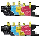 ShopAt247 Compatible Ink Cartridge Replacement for Brother LC75 XL (4 Black, 2 Cyan, 2 Yellow, 2 Magenta, 10-Pack)