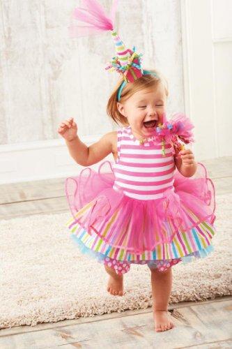 Mud Pie Little Girls' Tiered Birthday Party Tutu Dress, Multi, 4T
