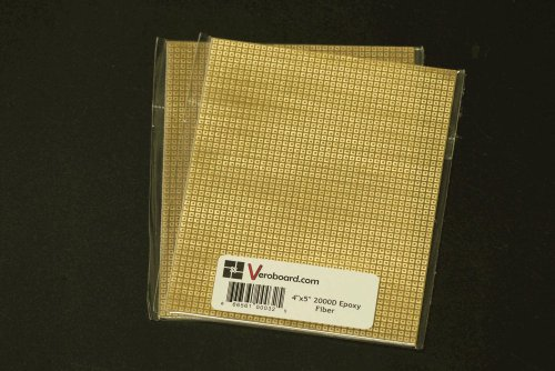 "Pack of 2 Prototype Universal Perfboard 4""x5"" (101x127mm) 2000hole Epoxy Fiber"