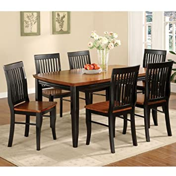 Earlham Mission Style Black & Oak Finish 5-Piece Dining Set