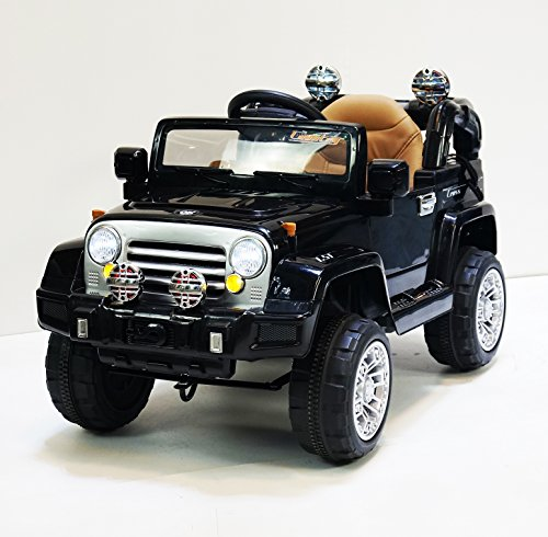 jeep style jj245 black ride on car for kids 2 5 years old with remote control little kid cars