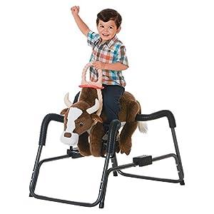 Tek Nek Toys Rockin Rider Buckaroo Deluxe Plush Spring Rocking Bull