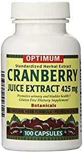Optimum Tablets, Cranberry Juice Extract, 425 Mg, 100 Count
