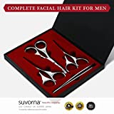 Suvorna Skinpal Mens Grooming Facial Hair Removal Kit, Polished Steel