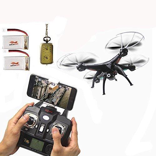 SYMA-X5SW-Quadcopter-Besser-als-X5C-UFO-Explorers-2-HD-Camera-24GHz-4-Kanal-6-Axis-3D-Flip-Flight-UFO-2015-Neueste-Mit-2-650mAh-GoldFox-Batterie
