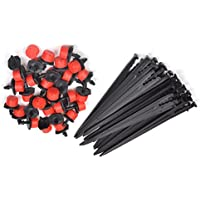 KLOUD City ® 50pcs Adjustable Irrigation Drippers, Sprinklers, Emitters + 50pcs Water Tube Hose Stands For Garden...