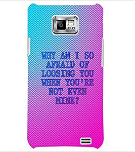 PrintDhaba Quote D-4900 Back Case Cover for SAMSUNG GALAXY S2 (Multi-Coloured)