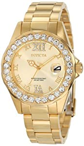 Invicta Women's 15252 Pro Diver Gold Dial Gold plated Stainless Steel Watch from Invicta